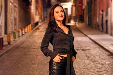 Eleonora Wexler, en las calles de Madrid, su nuevo hogar mientras filma La valla