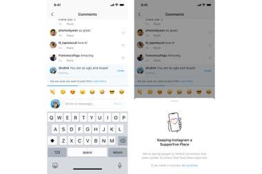 Instagram ahora analiza el contenido de un comentario buscando palabras agresivas, y recomendará al usuario modificarlas