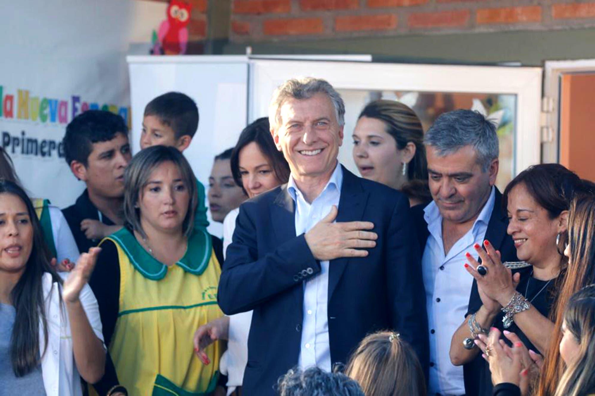 Mauricio Macri inauguró un Espacio de Primera Infancia construido con los dólares de las valijas de Antonini Wilson