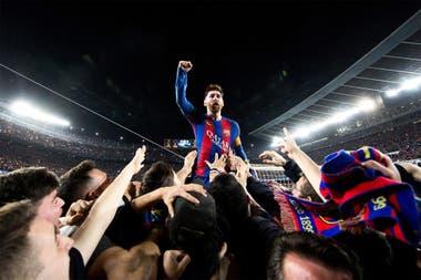 Una imagen icónica: Messi, símbolo en una victoria de Barcelona