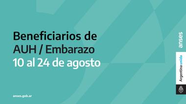 Entre el 10 y 24 de agosto cobrarán el tercer IFE los beneficiarios de la AUH y la AUE