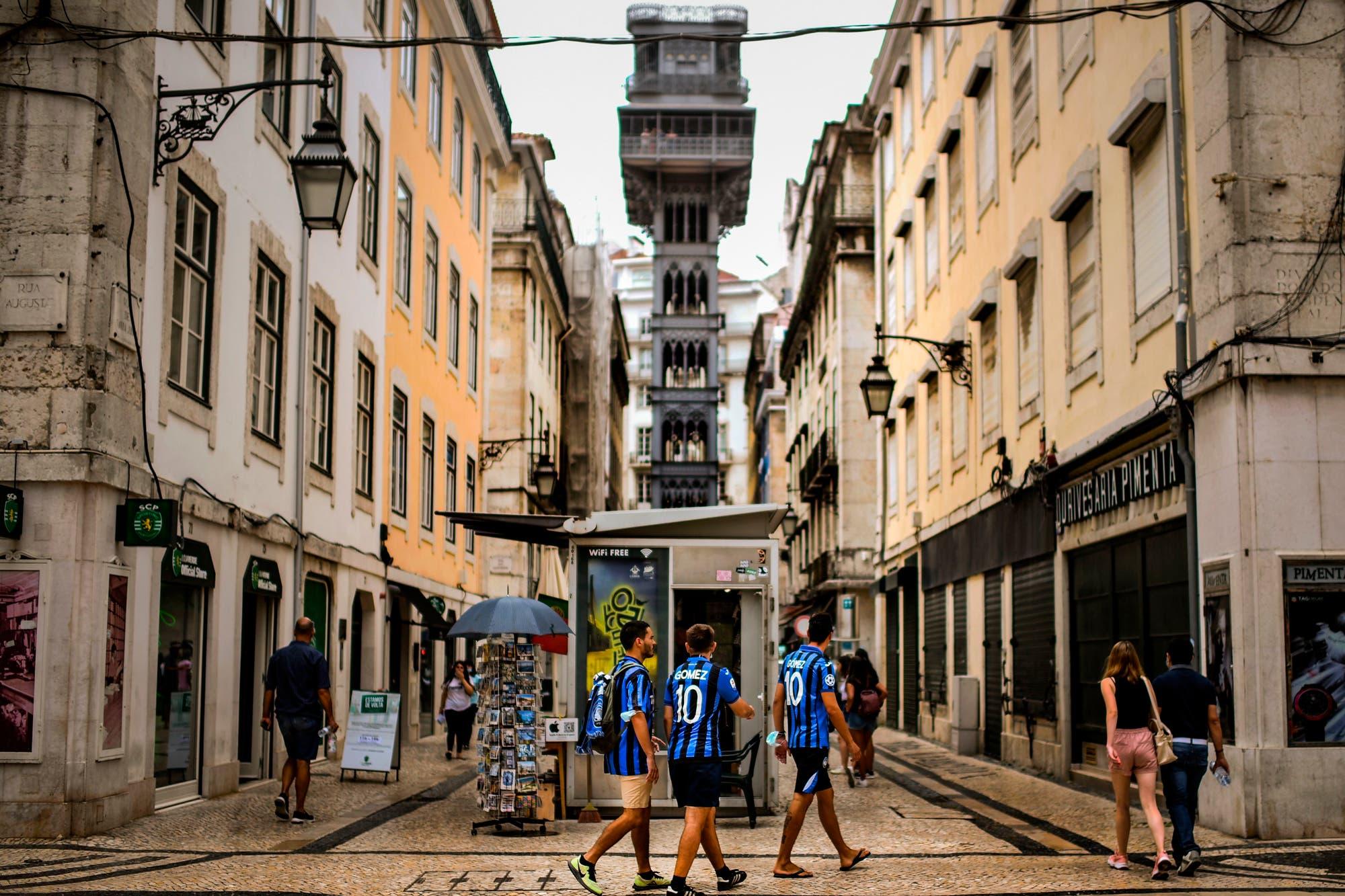 """La Champions League, en Lisboa: un """"Mundial"""" en una ciudad fantasma"""