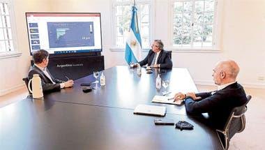 Antes de un anuncio distinto, Alberto Fernández recibió en Olivos a Axel Kicillof y Horacio Rodríguez Larreta