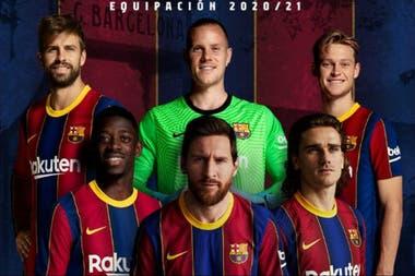 Messi, en el centro de la campaña de la nueva camiseta de Barcelona