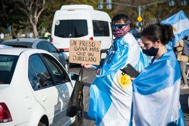 La protesta en Rosario