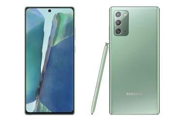 El Galaxy Note20 tiene un tamao casi idntico del Galaxy S20 aunque resigna algo de batera para dejar lugar al lpiz