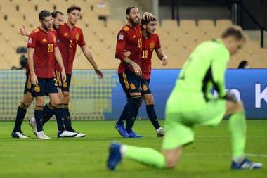 España goleó a Alemania por 6 a 0