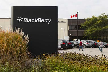 Una vista de la sede de BlackBerry en Waterloo, Canadá