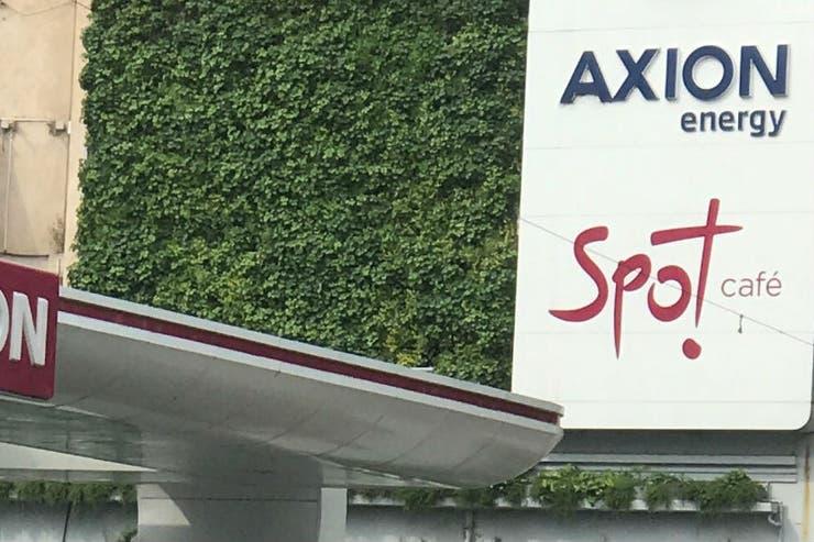 El muro verde de Axion en Libertador y Salguero