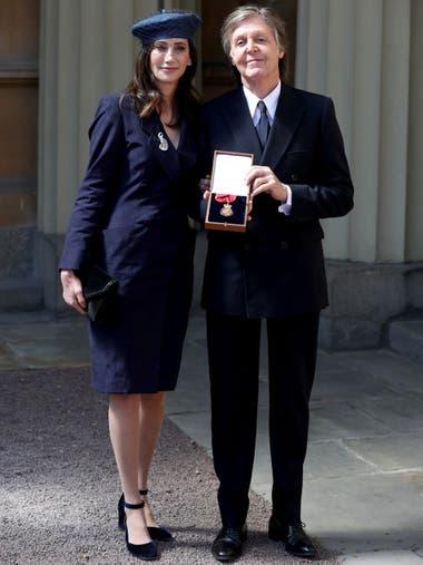El músico asistió a la ceremonia junto a su mujer Nancy Shevell