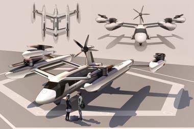 Así se ve el modelo de referencia de la aeronave de despegue vertical que Uber busca poner a prueba en Los Angeles y Dallas en 2020