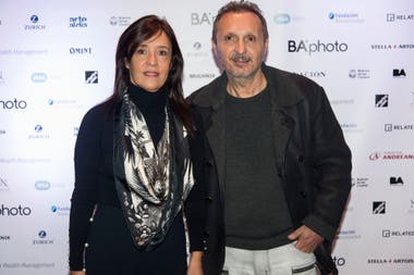 El galerista Daniel Maman y su mujer