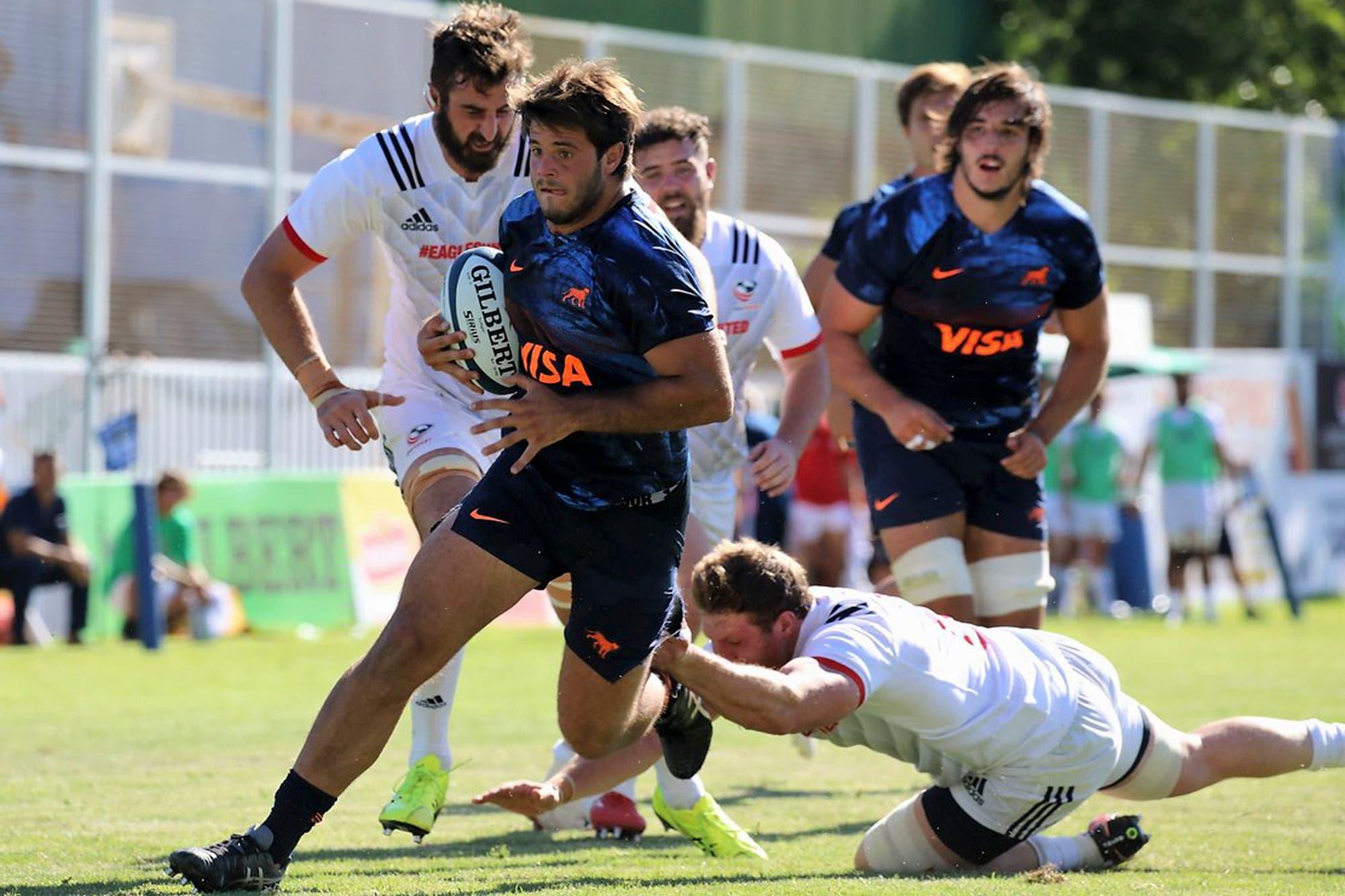 Argentina XV le dio una paliza a Estados Unidos en el Americas Rugby Championship