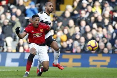 André Martial anota el fin de semana pasado frente a Fulham