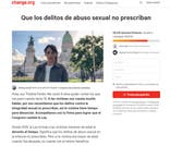 El petitorio de Thelma Fardin para que los delitos de abuso sexual no prescriban