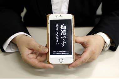 La aplicación que desarrollaron en Tokio para luchar contra el acoso sexual.