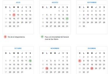 Luego de esta semana, el próximo feriado es el 9 de julio.