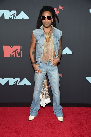 Lenny Kravitz en la entrega de los premios MTV Video Music en el Prudential Center