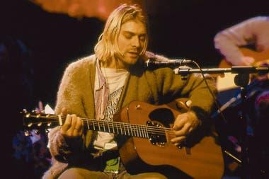 Cobain en el MTV Unplugged en 1993