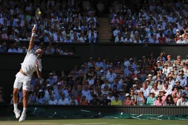Federer, para la mayoría el mejor tenista de todos los tiempos, en Wimbledon, el torneo que lo encumbró como leyenda: ganó ocho trofeos y perdió cuatro finales.