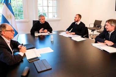 Presidente, Guzman, Maximo Kirschner y Heller
