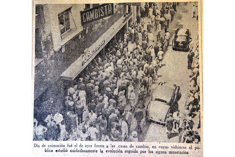 El 13 de enero de 1959, LA NACION daba cuenta del súbito interés de los ciudadanos por la cotización del dólar