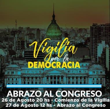 La marcha del 26A fue ampliada e incluirá una vigilia en torno al parlamento para protestar contra el proyecto de reforma judicial impulsado por el Gobierno