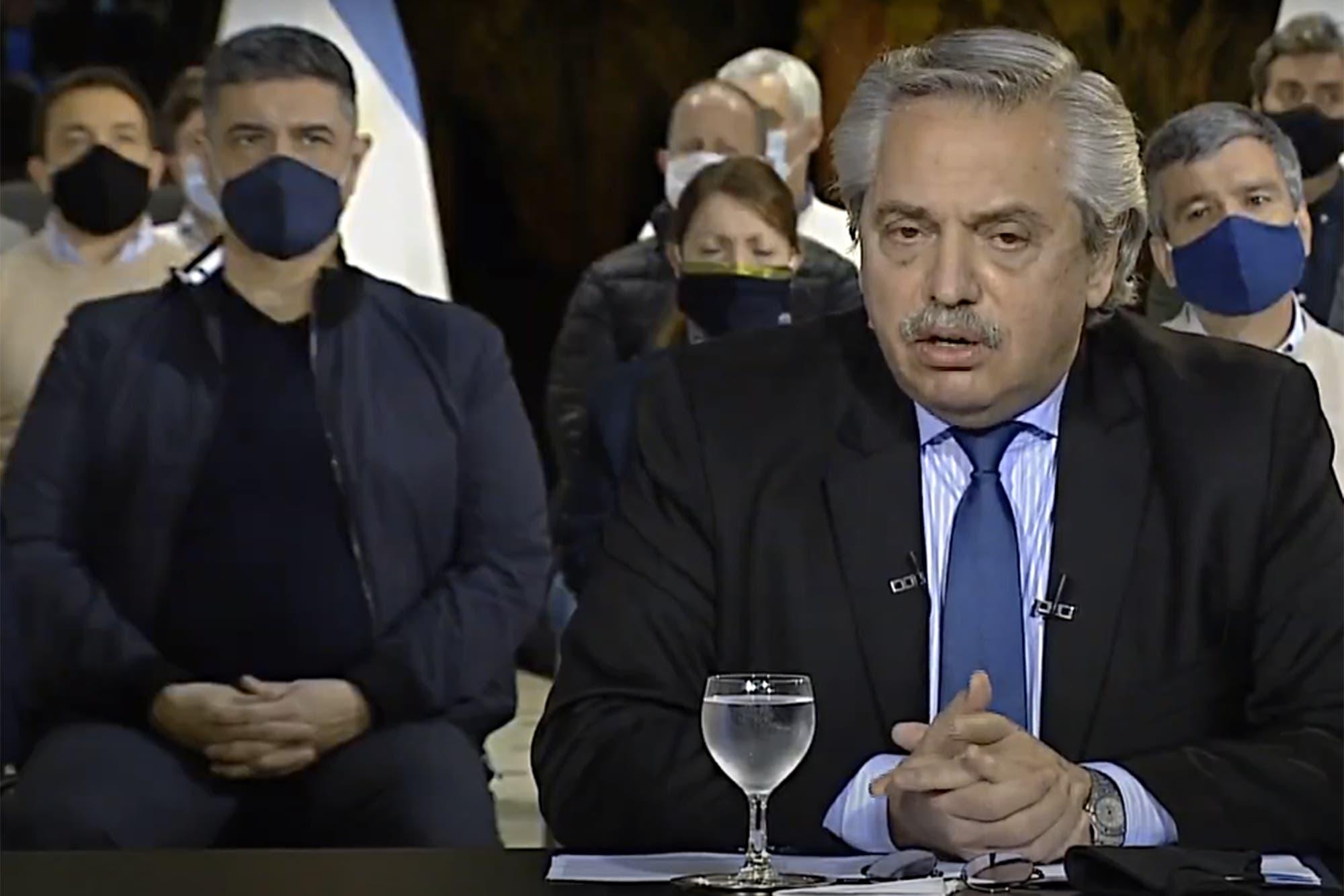 Jorge Macri, en primera fila: un mensaje de unidad en la conferencia de Alberto Fernández en Olivos ante las protestas policiales