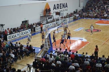 El estadio Arena, de Carlos Paz, uno de los escenarios para la vuelta de la Liga Nacional