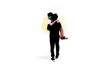 La ilustración de Diego con Abigail en brazos que se volvió viral a raíz de lo que les tocó vivir