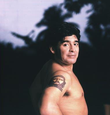 Diego Maradona por Alejandra López, en La Habana