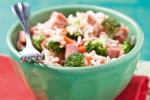 Risotto con brócoli y panceta