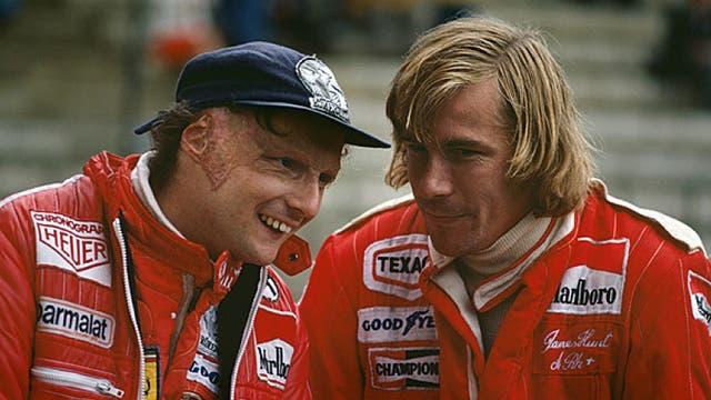 Niki Lauda y James Hunt, protagonistas de un duelo inolvidable en la década del 70