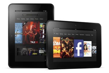 La Kindle Fire HD viene en versiones con pantallas de 7 y 8,9 pulgadas