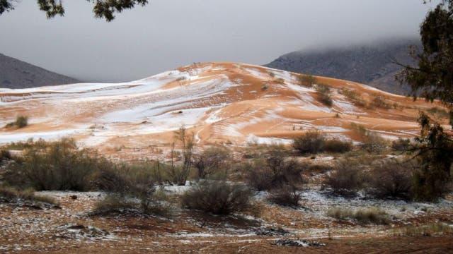 Nevó en una de las regiones más calurosas de la Tierra
