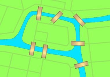 ¿Puedes cruzar todos los puentes una sola vez y volver al punto de partida?