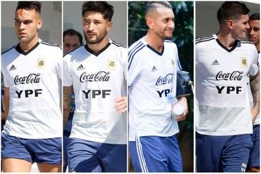 Martinez, Casco, Pereyra y De Paul, podrian estar desde el arranque ante Paraguay