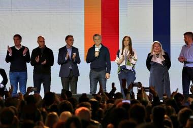 Mauricio Macri habló en el bunker de Juntos por el Cambio
