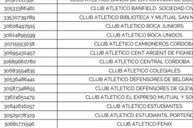 Boca, en el listado compuesto por las instituciones que el Ministerio de Turismo y Deportes pidió que sean consideradas