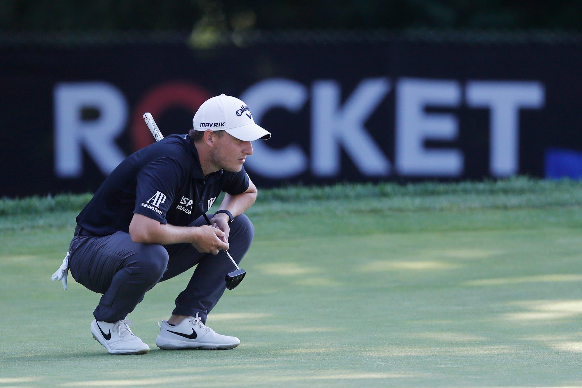 El PGA Tour. El chaqueño Emiliano Grillo se lució con una vuelta de seis birides y quedó a un golpe de la punta en Detroit
