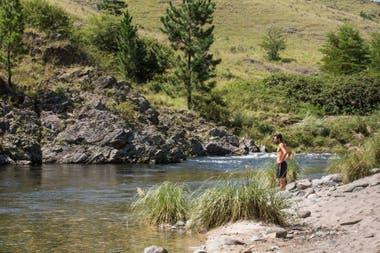 La estancia tiene 600 metros de costa sobre el río Tabaquillo.