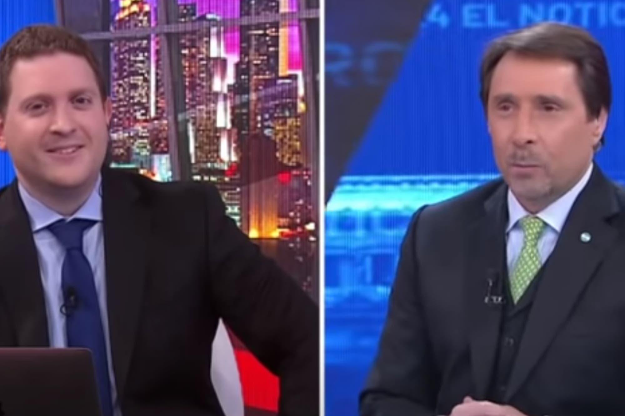 """""""En cuatro"""": Eduardo Feinmann y Jonatan Viale protagonizaron un incómodo blooper en vivo"""