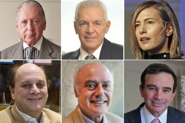 Daniel Funes De Rioja, Eduardo Costantini, Carolina Castro, Martín Cabrales, Ignacio Noel y Javier Madanes Quintanilla