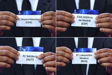 Al Atlético de Madrid de Simeone lo espera Bayern Munich, el campeón.
