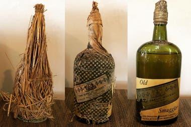 El licor que encontraron es un whisky escocés con la etiqueta Old Smuggler Gaelic Whisky, que aún se elabora en la actualidad