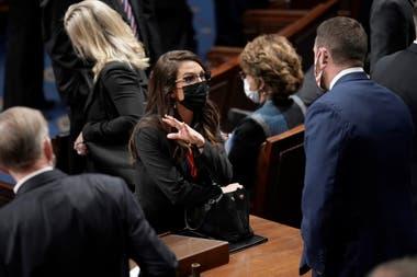 El debate de legisladores en el interior del Capitolio