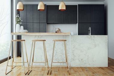 8 ideas para una barra en la cocina la nacion for Material parecido al marmol