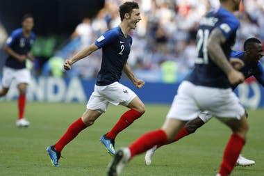 Pavard, autor del segundo gol frente a Argentina