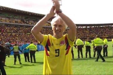 Pekerman, el día que la selección de Colombia regresó a ese país tras el Mundial de Rusia y fue homenajeada en Bogotá