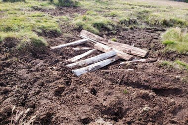 El daño producida en zona de turberas